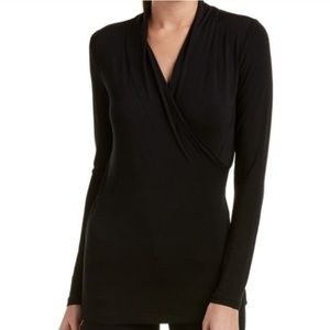 Cabi 584 crossover faux wrap long sleeve